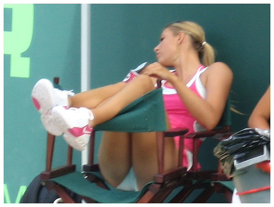 What's The Best Part About Women's Tennis ? Crotch Shots